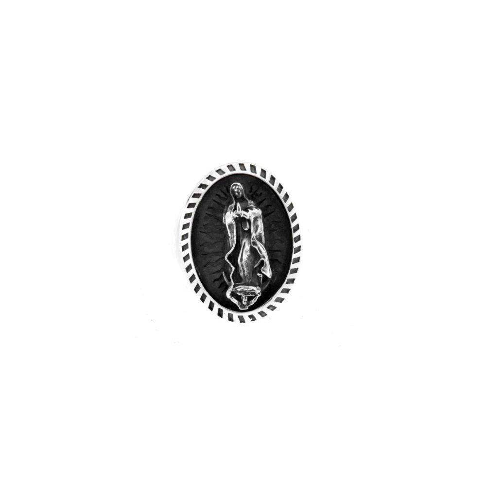 Anello Madonna di Guadalupe Grande Castone Lavorato