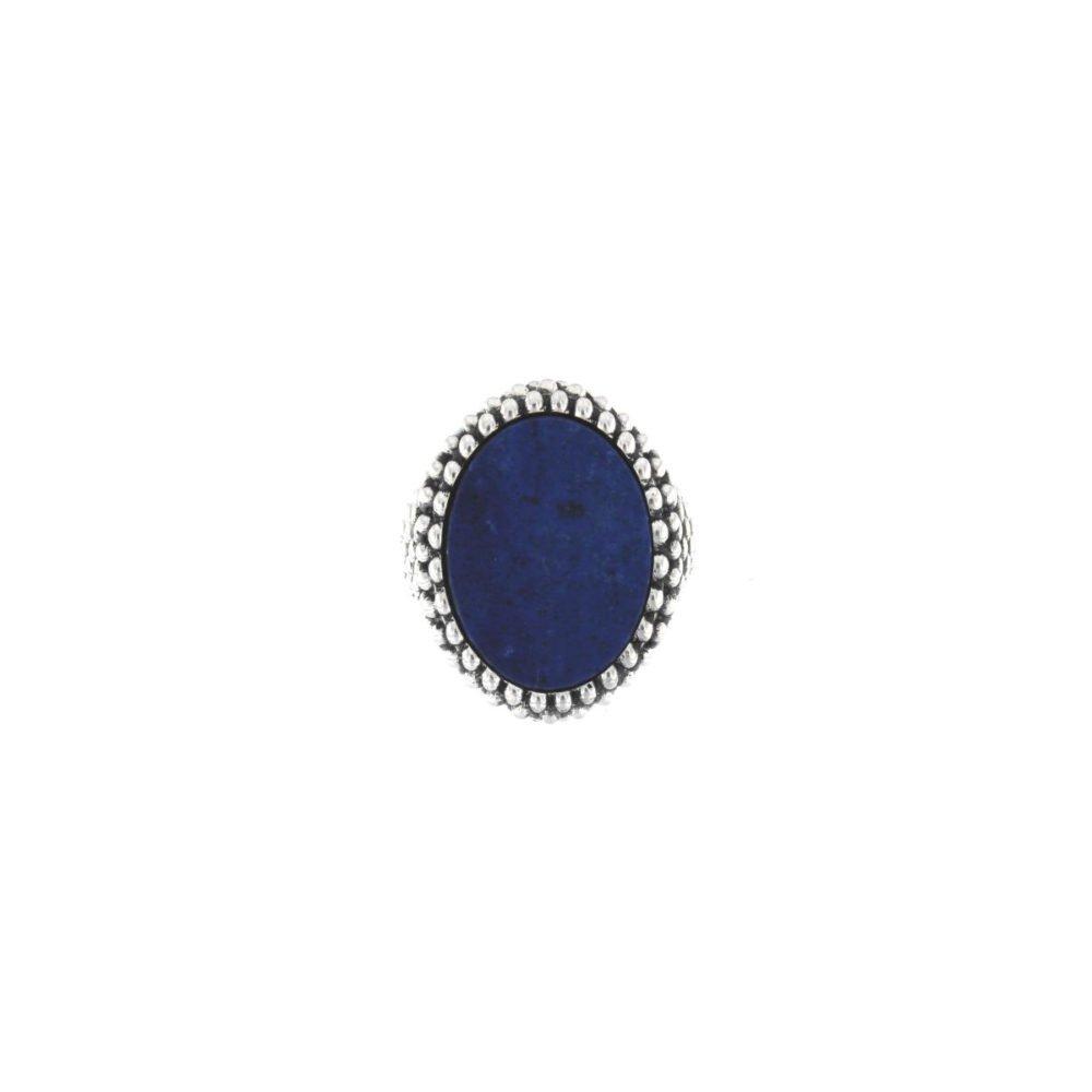 Anello Ovale Sphere Lapislazzulo Piccolo