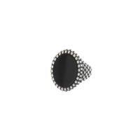 Anello Ovale Sphere Onice Piccolo