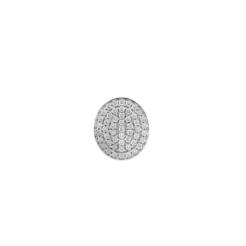 Anello Ovale Semiprezioso Bianco